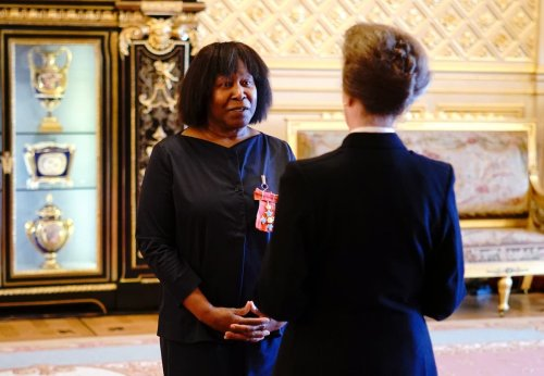 Joan Armatrading jokes that she has been 'levelled up' with a CBE