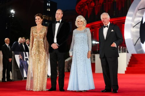 Royal foursome walk the red carpet for No Time To Die premiere