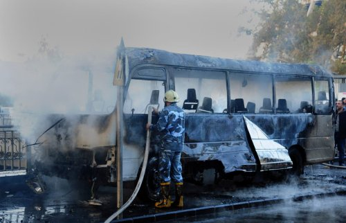 Syria: Deadly blast kills 14 on bus in Damascus