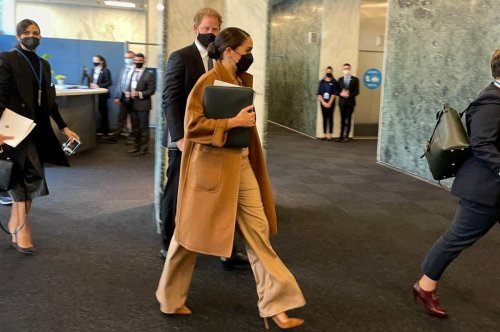 Prince Harry and Meghan Markle attend meeting at United Nations
