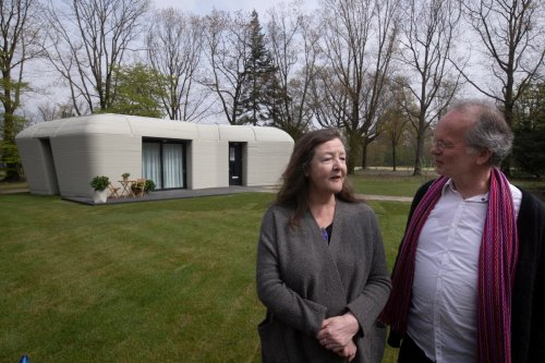Couple move into Europe's first 3D-printed house - built in five days