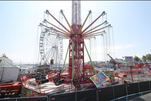 Four children rushed to hospital after funfair ride collapses