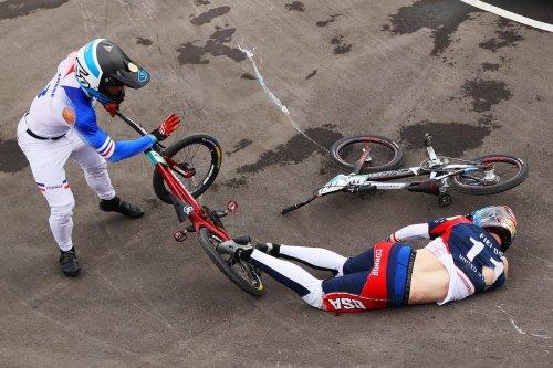 Connor Fields suffers horror BMX crash in Olympic semi-finals