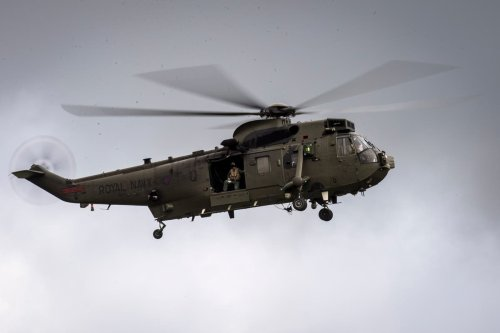 Police investigate after laser shone at Royal Navy helicopter