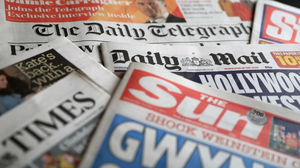 News   Evening Standard - cover