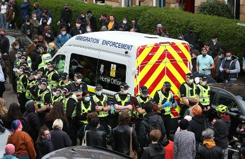 Protesters surround van in bid to stop immigration removals