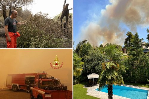 Wildfires in Spain, Italy and Greece with homes under threat