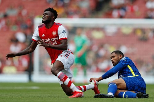 Partey injury scare as Arsenal star limps off during Chelsea friendly