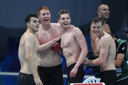 Tom Dean becomes double Olympic champion as Team GB win 4x200m freestyle relay gold in Tokyo