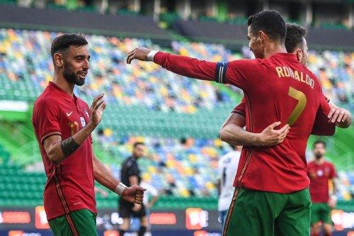 Ronaldo and Fernandes score as Portugal thrash Israel in Euros warm-up