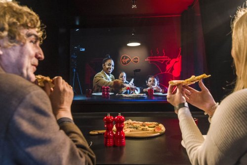 Life-sized 3D holograms allow loved ones to virtually share meal 400 miles apart