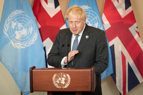 Boris Johnson makes call for 'humanity to grow up' and address climate problems
