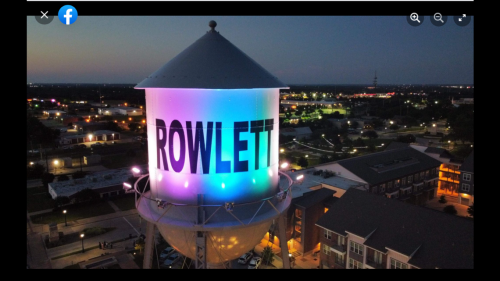 Rainbow lights will remain on Texas city's water tower despite Pride Month backlash