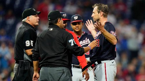 'MLB is straight madness right now.' The night umpires had pitchers take off their pants