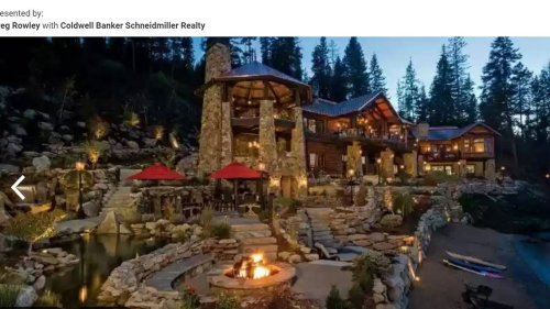 This lakefront lodge with stunning views listed for $27 million in Idaho. Take a look