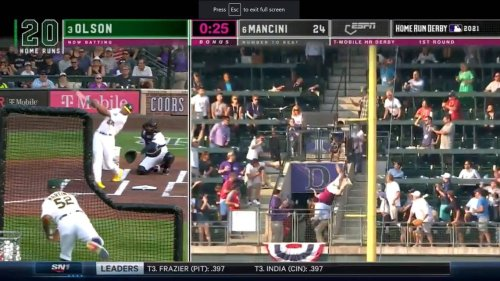 Fan takes scary fall trying to catch ball at MLB Home Run Derby. 'I just dove'