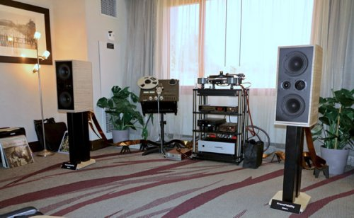 PranaFidelity's New Dhara Loudspeakers Dance with E.A.R. and Townshend Electronics, Helius and Koetsu Analog, and Silversmith Cabling