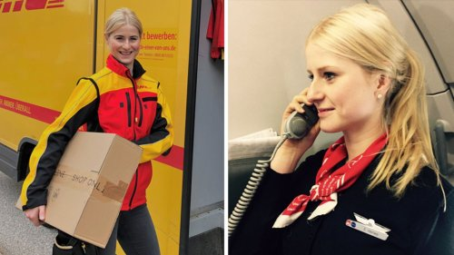 """Früher Flugbegleiterin, jetzt DHL-Fahrerin: Sophia, 32, über ihr """"unerwartetes Job-Jahr"""""""