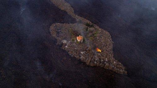 """Das """"Wunder-Haus"""" von La Palma bleibt trotz Lavastrom einfach stehen"""