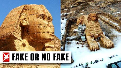 Große Sphinx von Gizeh im Schnee? Das Foto im Faktencheck
