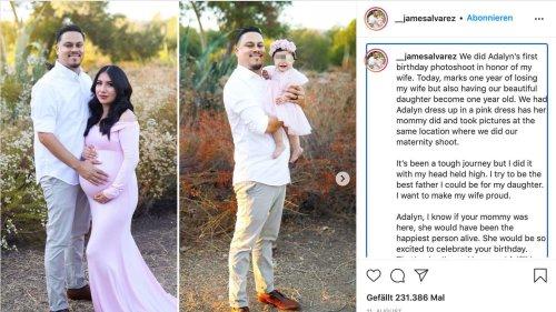 Vater stellt mit seiner Tochter das einstige Schwangerschaftsshooting seiner verstorbenen Frau nach