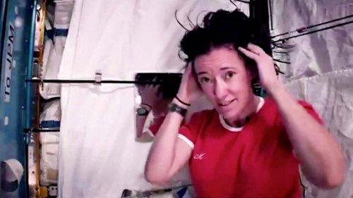 Wie wäscht man eigentlich im Weltall Haare? Nasa-Astronautin macht es vor