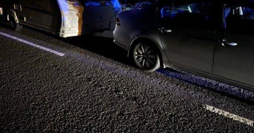 Police car rammed as cops target caravan thieves in North Staffordshire