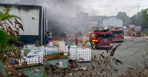 Everyone accounted for as 'accidental' fire rips through industrial unit