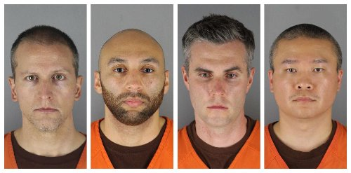 Ex-cops in Floyd death claim witness coercion, harm of leak