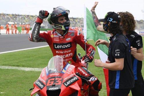 Bagnaia resists Quartararo pressure for second MotoGP win - The Race
