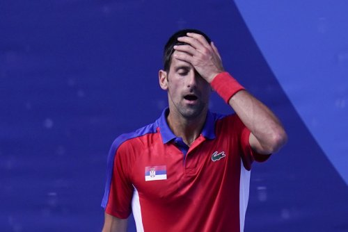 Djokovic's temper flares up as he leaves Tokyo empty-handed