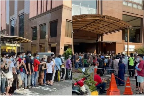 Viral video of 'hugging queue' for Covid-19 vaccine in Malaysia sparks outcry