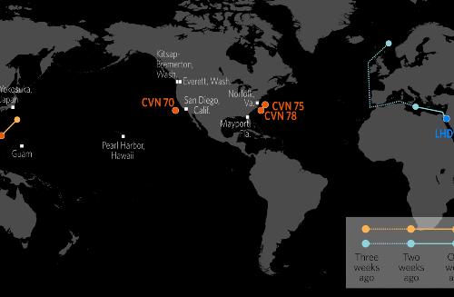 U.S. Naval Update Map: June 10, 2021