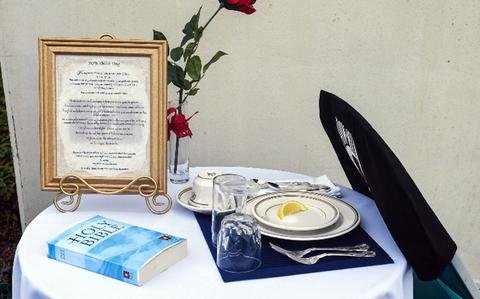 Religious freedom group wants Bible removed from POW/MIA table at Navy base in Japan