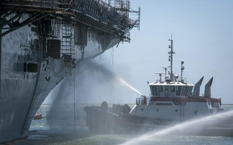 Navy instituted fire-safety compliance checks after USS Bonhomme Richard blaze last year