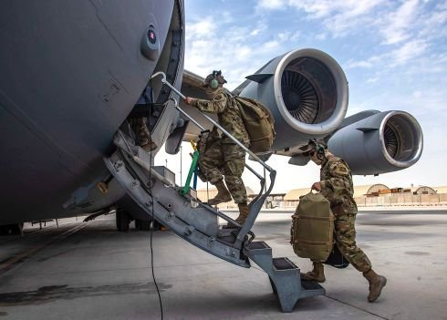 US forces in Afghanistan hand over a facility to Afghan army, move 1,800 pieces of equipment for destruction