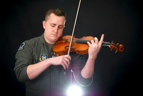From the cockpit to the concert hall: Grissom airman flies high as both pilot, violin virtuoso