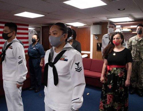 Naturalization Ceremony aboard USS Ashland (LSD 48)