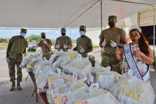 Andersen Airmen assist with Yona food distribution