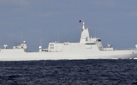 Chinese, Russian warships pass together through narrow Japanese strait for first time