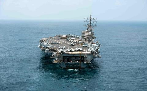 USS Ronald Reagan steams into South China Sea after summer deployment to Middle East