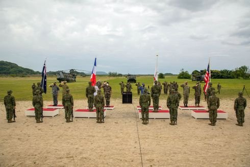 French, US, Japanese and Australian forces team up for beach-storming drills in Japan