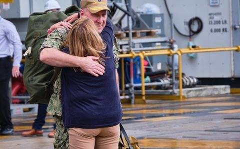 USS Ronald Reagan returns to Japan after 150-day deployment to Middle East