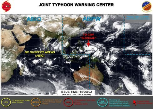 Tropical Storm 02W (Surigae), # 3