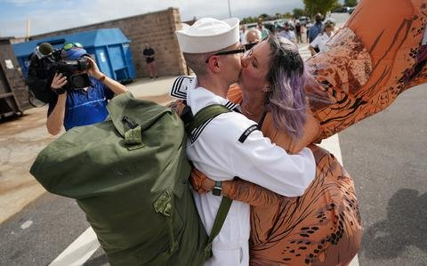 Last two ships of Eisenhower strike group home — at last