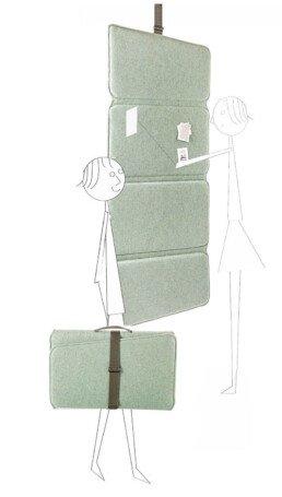Flexibler Büroschirm, akustische Abtrennung, Spritzschirm.
