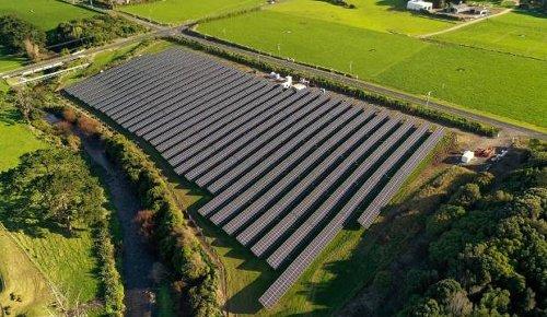 New Zealand's largest grid-connected solar farm now open in Taranaki