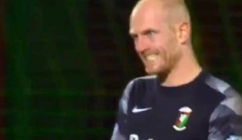Football goalkeeper sent off for clash with teammate in 'moment of absolute madness'