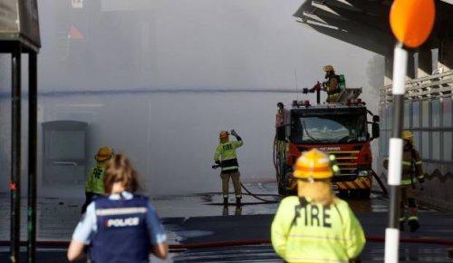 Palmerston North blaze smothers city centre in smoke