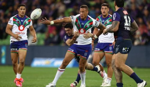 Warriors' Kane Evans fined $5000 by NRL for writing expletive message